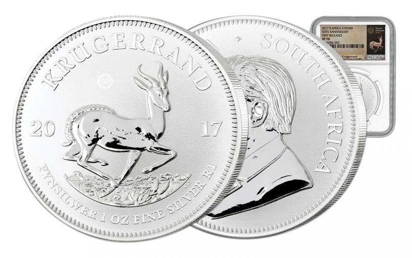 2017 South Africa Silver Krugerrand NGC SP70 First Releases