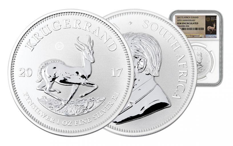 2017 South Africa Silver Krugerrand NGC Gem Proof