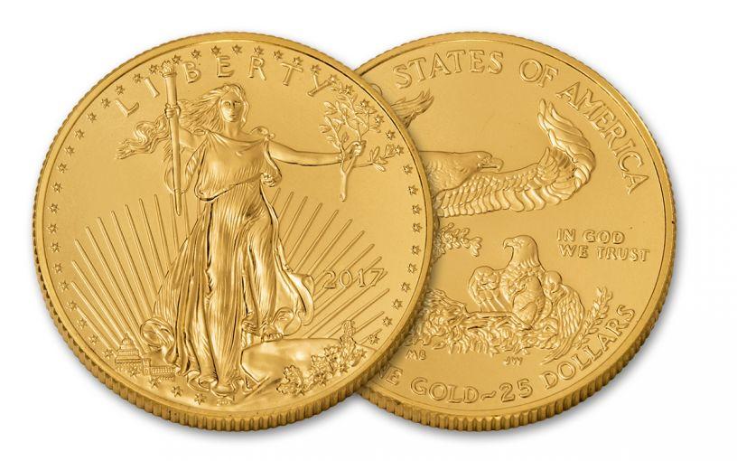 2017 25 Dollar 1/2-oz Gold Eagle BU