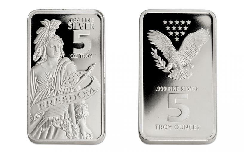 5-oz Silver Freedom Bar Proof-Like