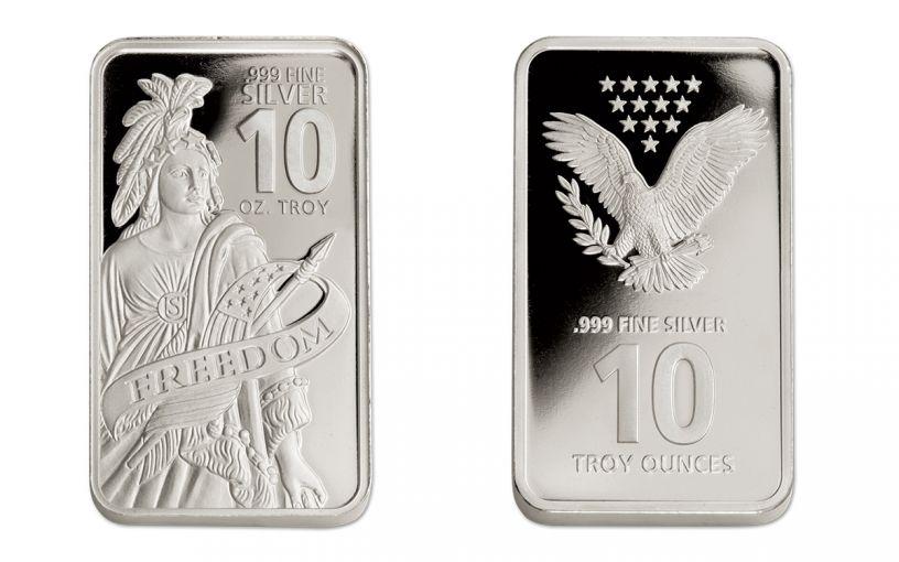 10-oz Silver Freedom Bar Proof-Like