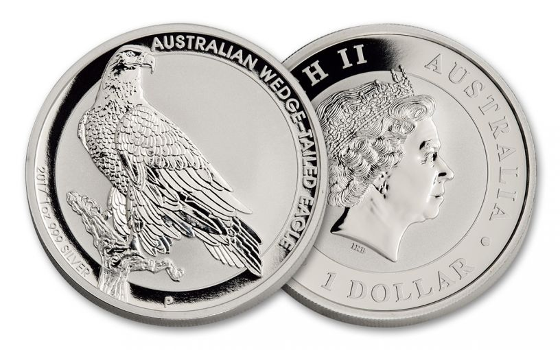 2017 Australia 1 Dollar 1-oz Silver Wedge-Tailed Eagle Uncirculated