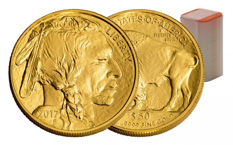 2017 50 Dollar 1-oz Gold Buffalo BU 20-Coin Roll