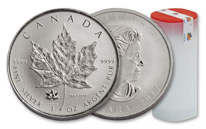 2017 Canada 5 Dollar 1-oz Silver Maple Leaf 25pc 150 Rev Proof