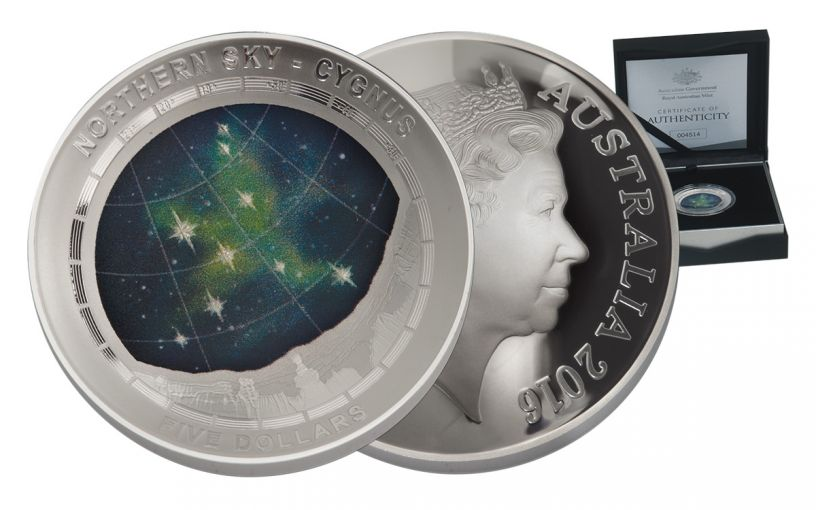 2016 Australia 5 Dollar 1-oz Silver Northern Sky Cygnus Proof