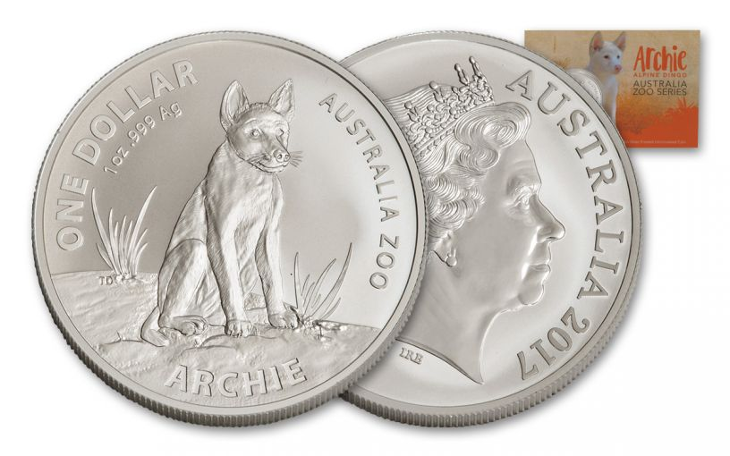 2017 Australia 1 Dollar 1-oz Silver Archie the Alpine Dingo Uncirculated
