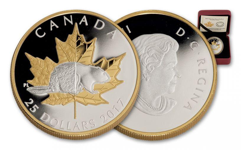 2017 Canada 25 Dollar 1-oz Silver Timeless Icons Piedfort