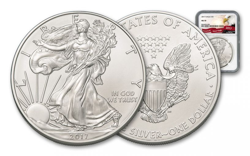 2017 $1 1-oz Silver Eagle NGC MS70