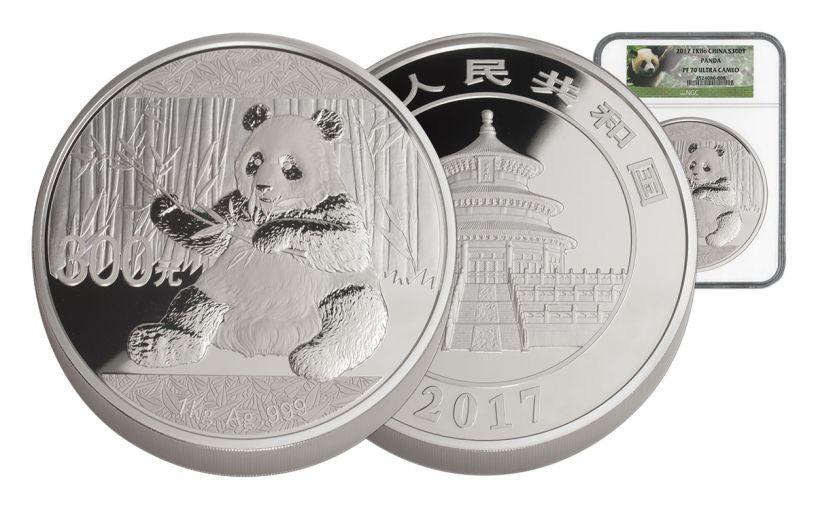 2017 China 1 Kilo Silver Panda NGC PF70UCAM
