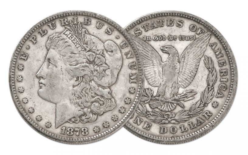 1878-P Morgan Silver Dollar 8 Tail Feathers VF