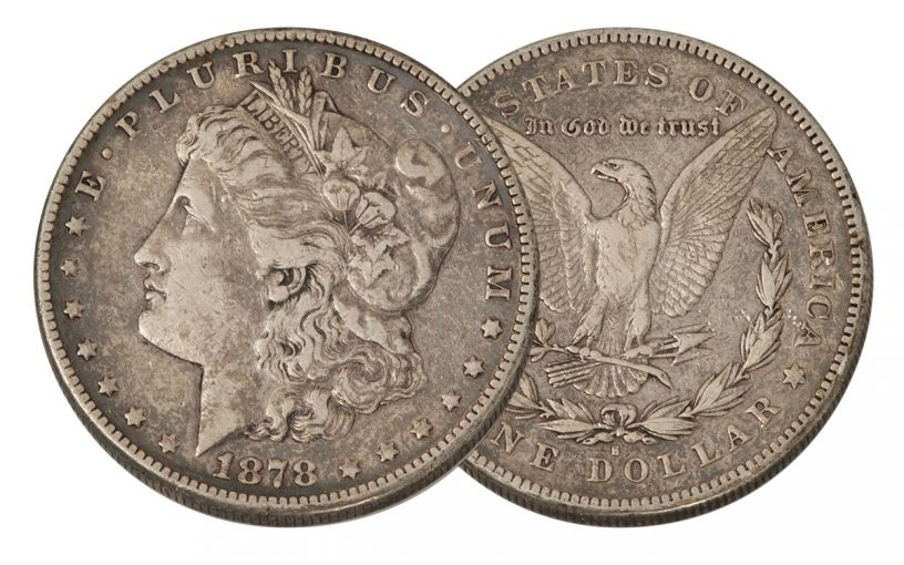 1878-S Morgan Silver Dollar 8 Tail Feathers VF