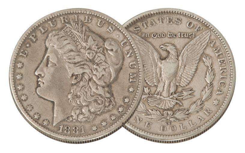 1881-CC Morgan Silver Dollar VF