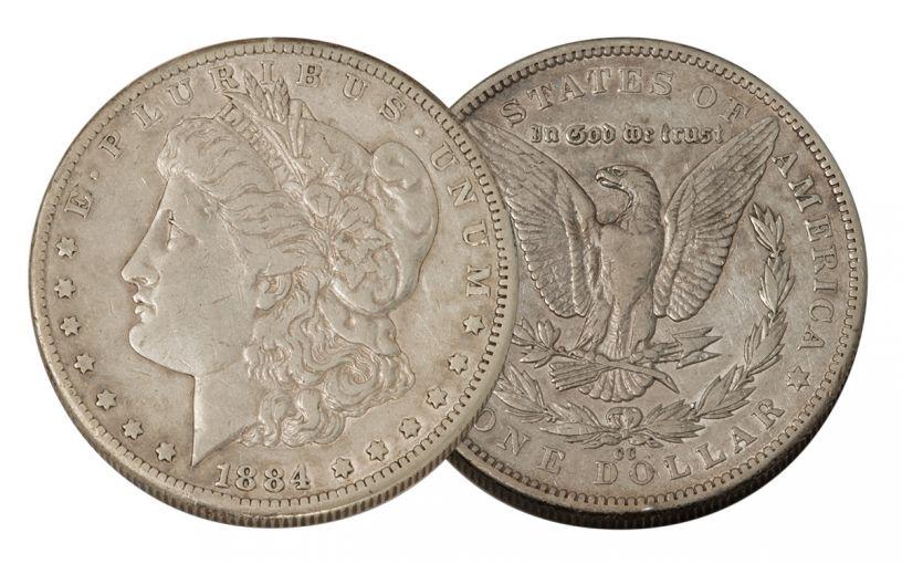 1884-CC Morgan Silver Dollar VF
