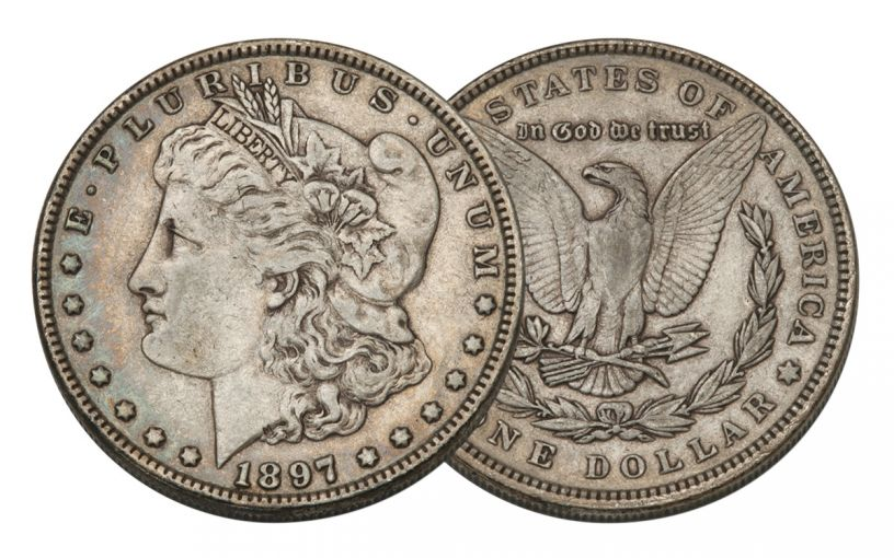 1897-P Morgan Silver Dollar VF