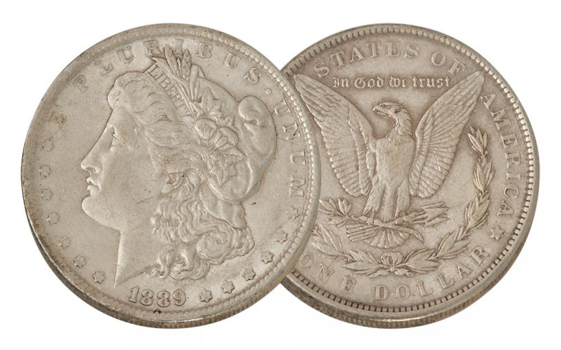 1889-P Morgan Silver Dollar XF