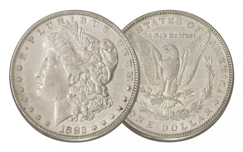 1882-P Morgan Silver Dollar AU