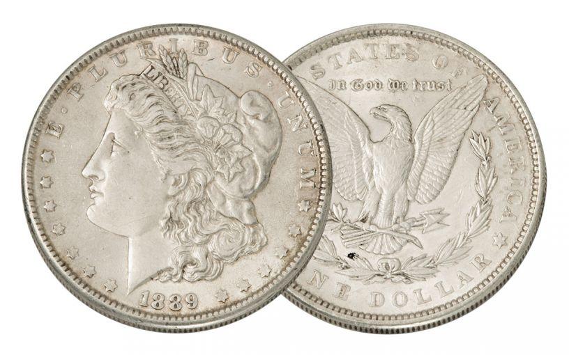 1889-P Morgan Silver Dollar AU
