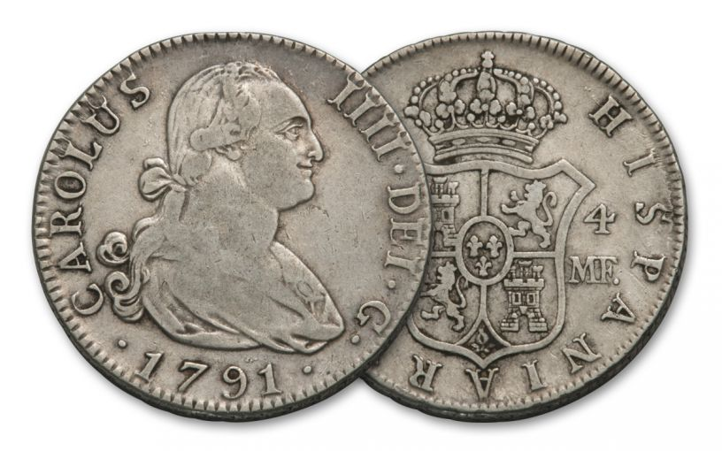 SPAIN 1772-1825 SILVER 4 REALES VF