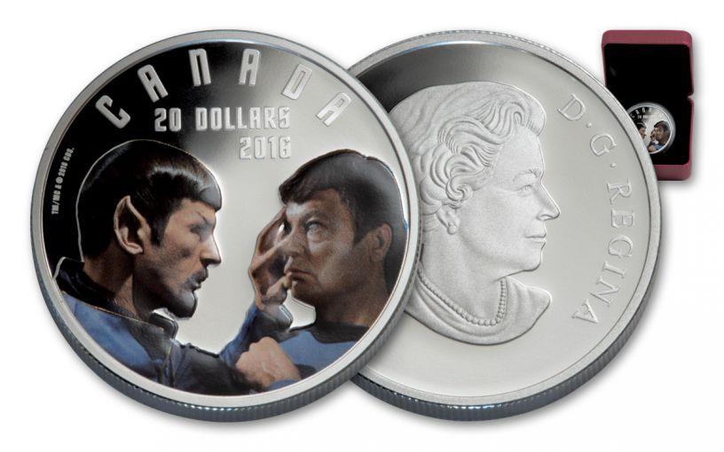 2016 Canada 20 Dollar 1-oz Silver Star Trek Mirror Gem Proof