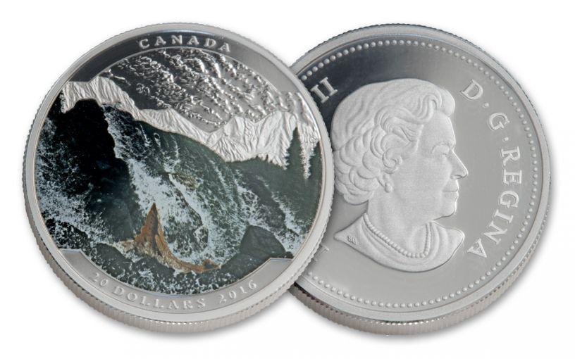 2016 Canada 20 Dollar 1-oz Silver Salmon Gem Proof