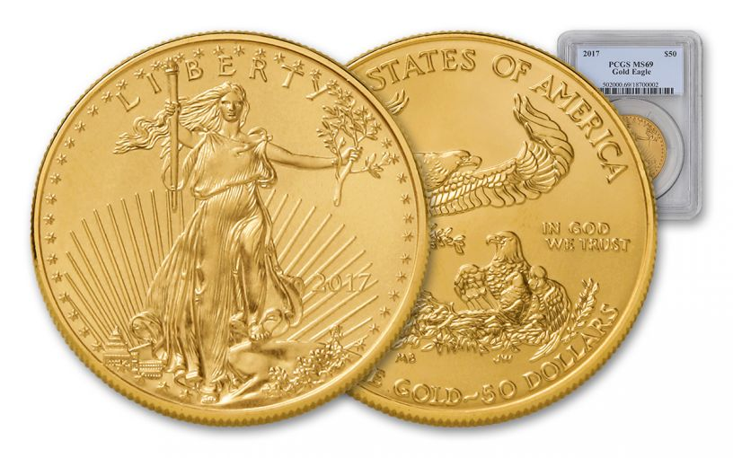 2017 $50 1-oz Gold Eagle PCGS MS69
