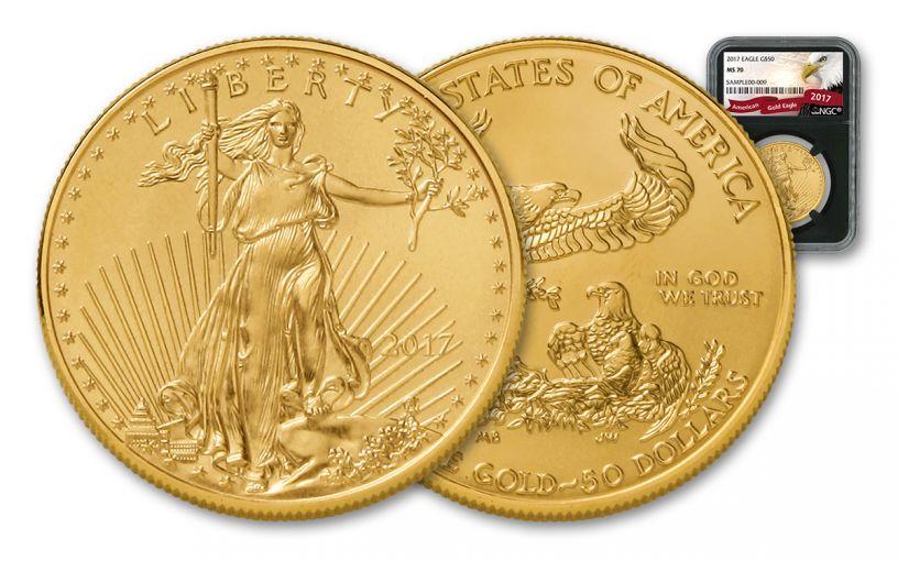 2017 50 Dollar 1-oz Gold Eagle NGC MS69 Eagle Black