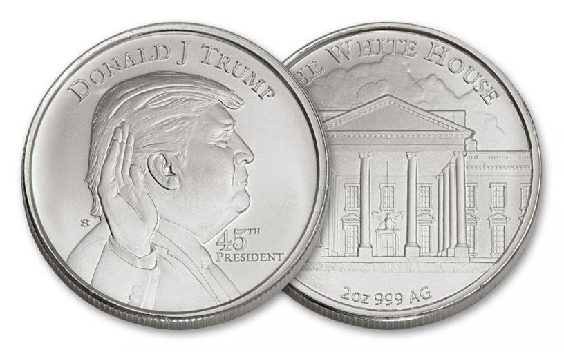 U.S. 2-oz Silver President Donald Trump High-Relief Round