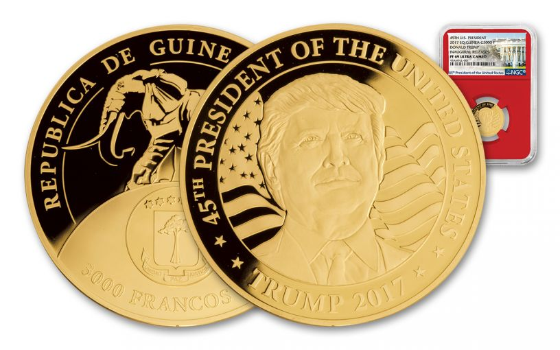 2017 1/10-oz Gold Donald Trump Inaugural Proof NGC PF69