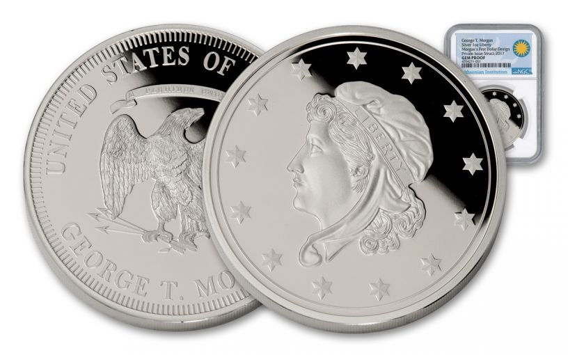 Morgan's First 1-oz Silver Dollars Smithsonian Institution NGC Gem Proof Ultra Cameo