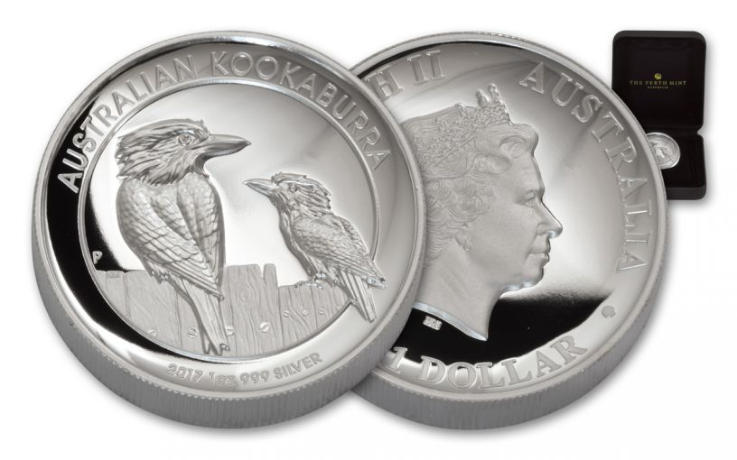 2017 Australia 1 Dollar 1-oz Silver Kookaburra High Relief Proof