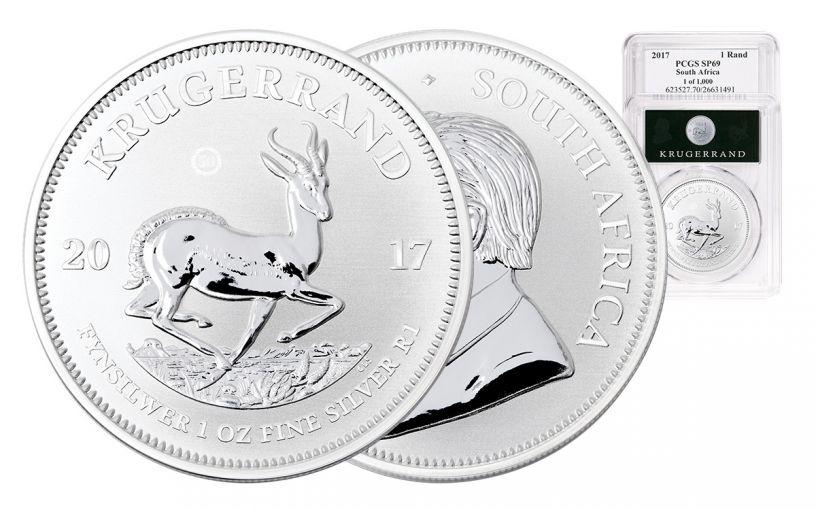 2017 South Africa Silver Premium Krugerrand UV PCGS SP69