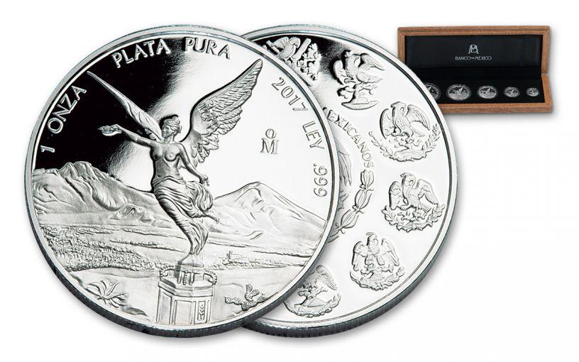 2017 Mexico Silver Libertad Proof Set- 5 Piece