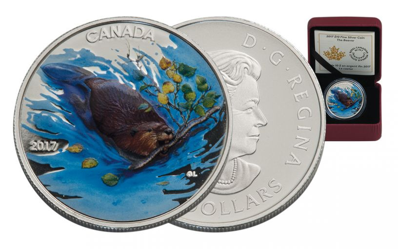 2017 Canada 10 Dollar Silver The Beaver Matte Proof
