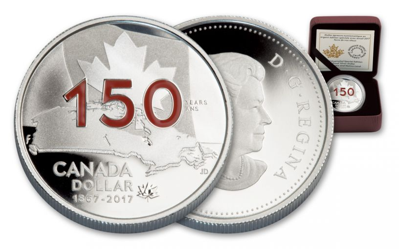 2017 Canada 1 Dollar Silver Home and Native Land Enameled Proof