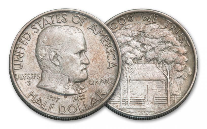 1922-P Silver Half Dollar Grant Commemorative XF