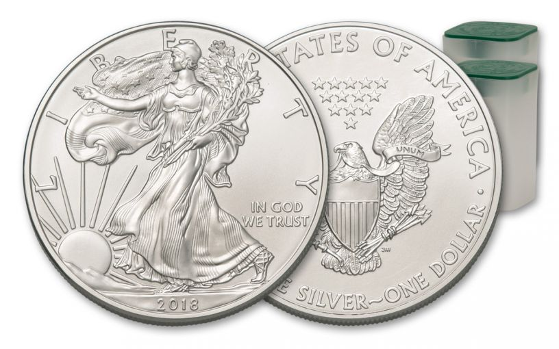 2018 $1 1-oz Silver American Eagle BU 20-Piece Roll