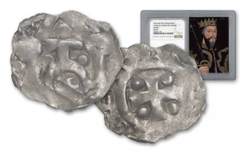 Normandy Silver Deniers of William the Conquerer NGC VF35