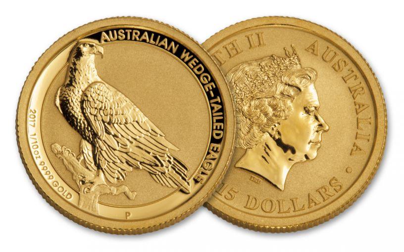 2017 Australia 15 Dollar 1/10-oz Gold Wedge Tailed Eagle Uncirculated