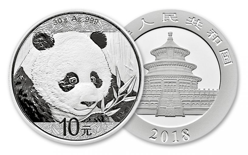 2018 China 30 Gram Silver Panda Brilliant Uncirculated