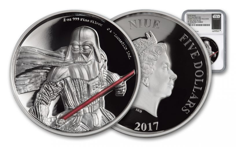 2017 Niue $5 2-oz Silver Darth Vader Ultra High Relief NGC PF70UCAM First Releases