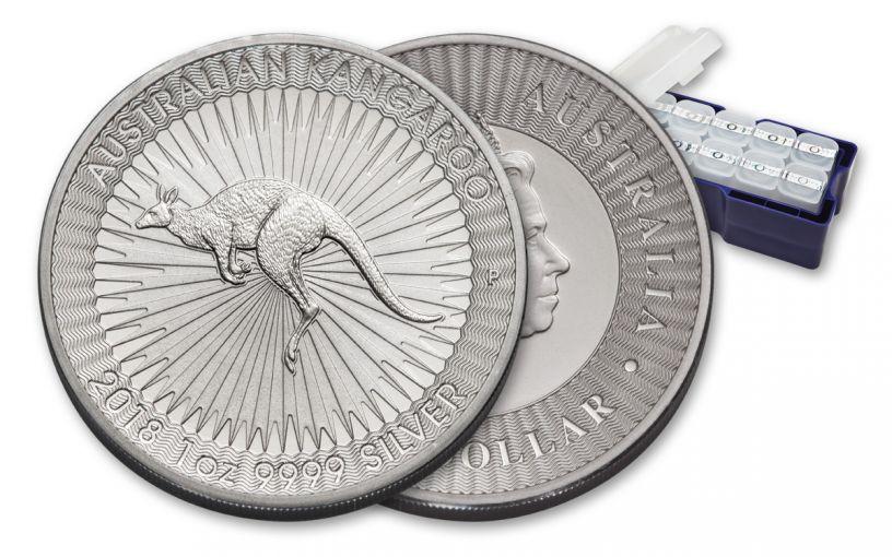 2018 Australia 1-oz Silver Kangaroo BU Mint Box 250pc