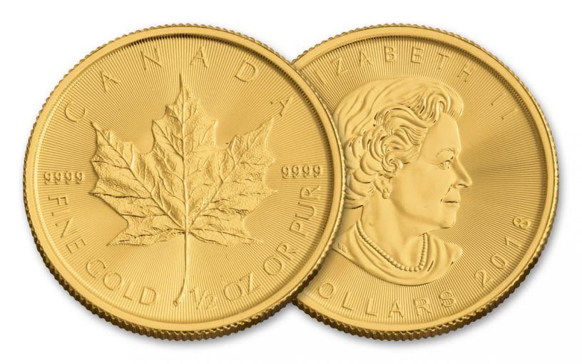 2018 Canada 1/2-oz Gold Maple Leaf Brilliant Uncirculated