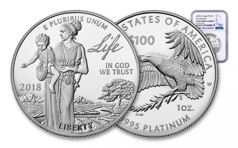 2018-W 100 Dollar 1-oz Platinum Eagle NGC PF70UCAM First Releases
