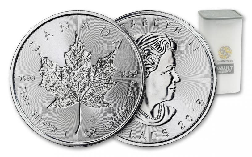 2018 Canada 1-oz Silver Incuse Maple BU Vault Reserve