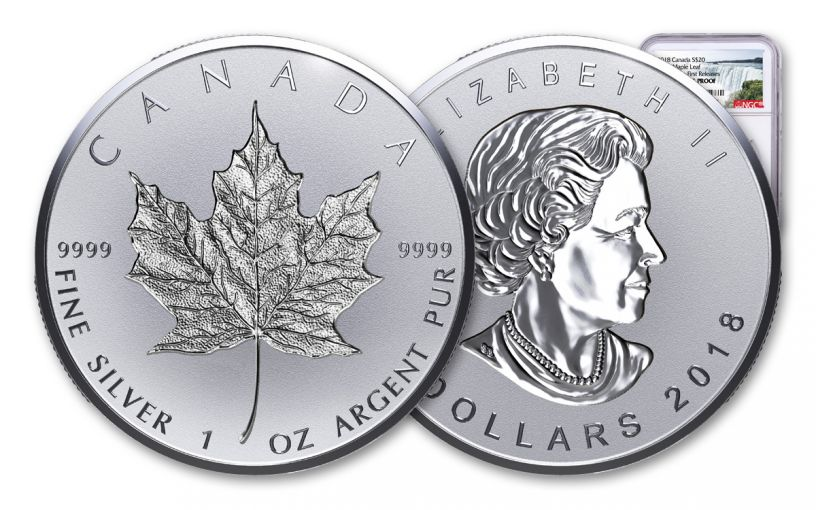 2018 1-oz Silver Incuse Maple Leaf Reverse Proof NGC PF69UCAM First Releases