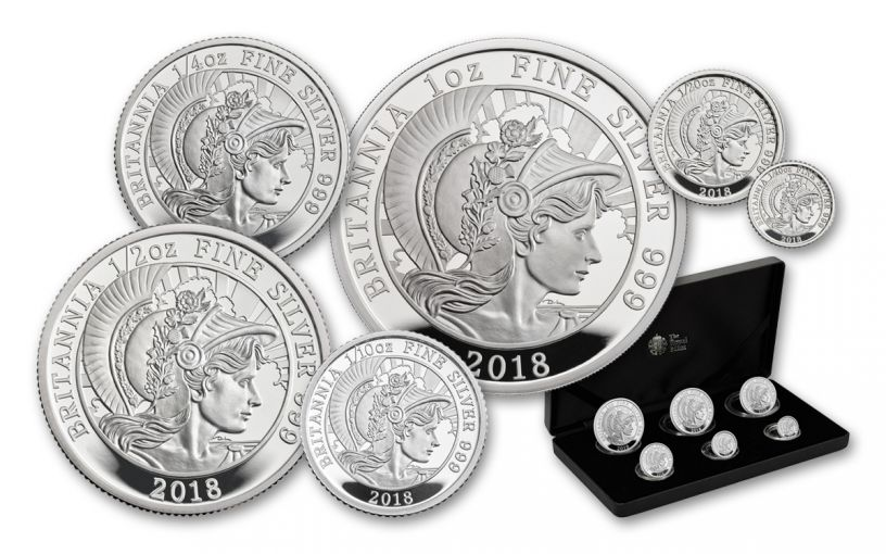 2018 Great Britain Silver Britannia 6-Piece Proof Set
