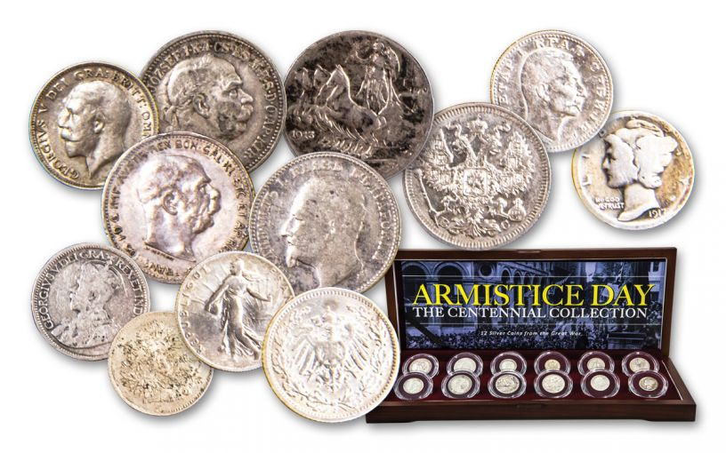 World War I Armistice Day 12-Piece Silver Coin Collection