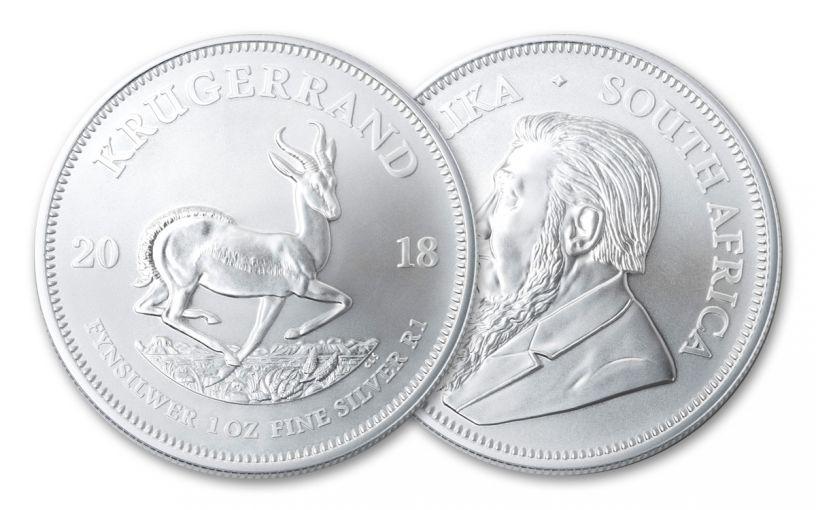 2018 South Africa 1-oz Silver Krugerrand BU