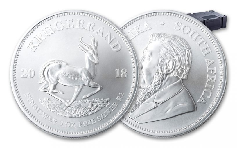 2018 South Africa 1-oz Silver Krugerrand BU – Box of 500