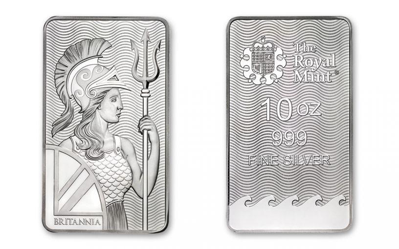 2018 Great Britain 10-oz Silver Britannia Bar